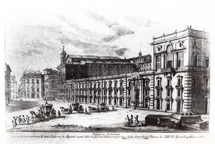 incisione Vasi Palazzo Colonna