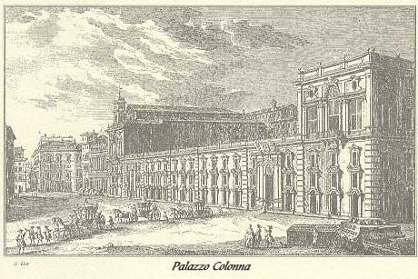 Incisione Palazzo Colonna